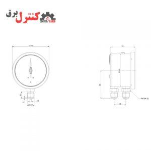 گیج فشار پکینز مدل DG100، یکی از مدل های عالی برای صنایع گرمایش و سرمایشی