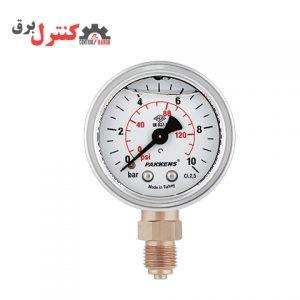 درجه فشار پکنز مدل MG 050 از نوع مانومترهای عقربه ای روغنی است.
